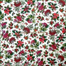 "FABRI-QUILT CHRISTMAS TINY BERRIES HOLLY  FABRIC 1/2 YARD (18"" X 45"")"