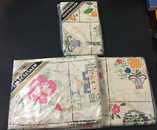 Vtg Twin sheet set by Tastemaker Floral Retro Shabby Chic New Sealed NOS