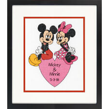 Dimensions Counted Cross Stitch Kit - Disney Mickey and Minnie Wedding Record