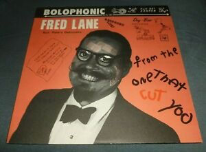 FRED LANE RON 'PATE'S DEBONAIRS 33RPM LP FROM THE ONE THAT CUT YOU SHIMMY-DISC