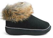 Dunlop Zapatillas Negro Botas De Ancho E Ajuste Tamaño Pequeño Reino Unido 3/4