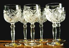 6 Stück Weingläser Katharinen Hütte Burg Lindau, Wein Glas Bleikristall 24% Pbo