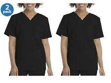 Scrubstar Women's (2-Pack) V-Neck Scrub Top with Patch Pocket Size Xs