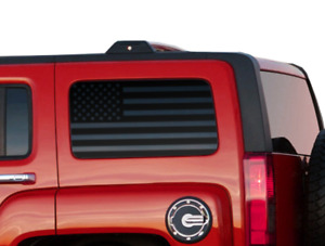 USA Flag Decals Rear 3rd window - Fits Hummer H3 - American Flag - HE1