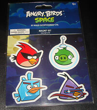 Angry Birds Space - Magnet Set - SUPER RED, Green PIG, ICE CUBE & LAZER, OINK!