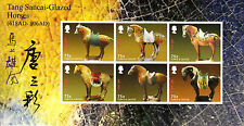 Turks & Caicos 2014 MNH Year of Horse 6v M/S Tang Sancai Glazed Horses Stamps