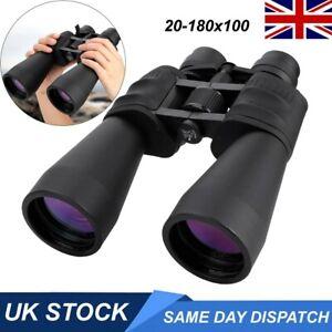 20-180X100 Professional Binoculars Telescope Portable Day&Night Vision Zoom UK