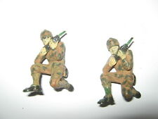 Marx or similar American soldiers 2 radio operators 60 mm excellent painted cond