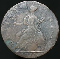 1775 | George III Half-Penny | Copper | Coins | KM Coins