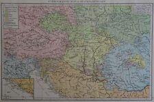 MAPPA Vittoriana 1896 di ethnograph di Austria Ungheria il Times ATLAS 1st Gen
