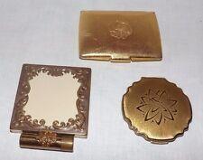 (Gruppe 3) Vintage Gold Face Puderdosen (Stratton, Helena Rubenstein)