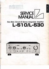 Service Manual-Instructions pour LUXMAN l-510, l-530