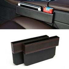 1*PU Leather Catch Catcher Box Caddy Car Seat Gap Slit Pocket Storage Organizer