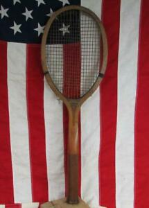 Vintage 1920s Edw.K. Tryon Wood Tennis Racquet Bryn Mawr Model Philadelphia,PA.