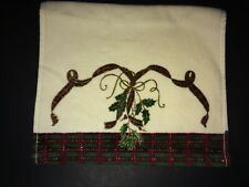 LENOX Holiday Nouveau Fingertip Towel ~ Cotton Christmas Plaid ~ NWOT