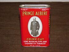 VINTAGE PRINCE ALBERT CRIMP CUT PIPE & CIGARETTE TOBACCO TIN CAN *EMPTY*