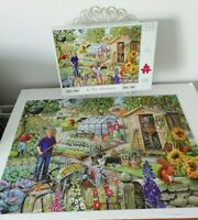 HOP House of Puzzles At The Allotment Puzzle Jigsaw BIG 500 Piece COMPLETE