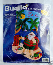 NEW Bucilla TROPICAL SANTA Felt Christmas Stocking Kit Vintage Beach 83975 18""