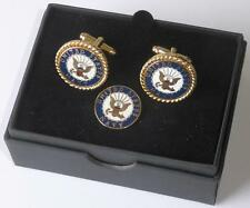 New Usn United States Navy Seal Cufflinks Lapel Pin Boxed Made In Usa Tuxxman