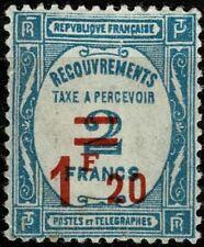FRANCE 1929 TAXE  YT n° 64 neuf ★ / MH  1 Pliure + point de rousseur cote 50€