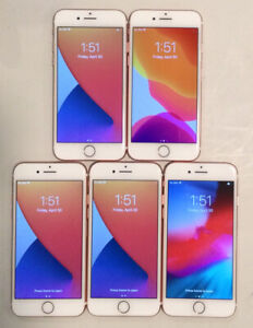 FIVE TESTED GSM UNLOCKED ROSE GOLD AT&T APPLE iPhone 7, 32GB A1778 PHONES R225P