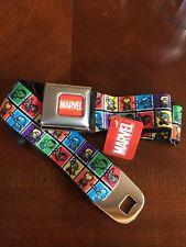 Avengers Kawaii Seat Belt Iron Man Hulk Thor Buckle Down Belt Marvel Comics 0064