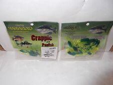 """Gary Yamamoto Custom Baits Crappie And Panfish 1.75"""" tubes Green/Chart"""