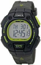 Timex T5K824, Men's Ironman 30-Lap Black Watch, Alarm, Indiglo, Chronograph