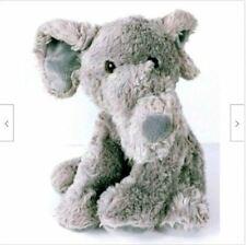 "Aurora Elephant Gray Plush Stuffed Animal 11.5"""