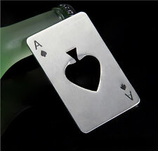 Hot Casino Bottle Opener Stainless Steel Credit Card Size Beer Bar Blade Spade A