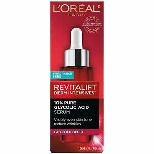 L'Oreal Revitalift Derm Intensives 10% Glycolic Acid Serum Fragrance Free 1.0 Fl