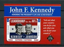 Guyana 2013 MNH John F Kennedy 50th Memorial 2v S/S Lyndon Johnson JFK Stamps