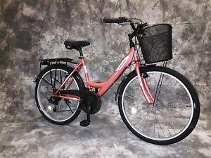 24 Zoll Damen Cityrad 21-Gang Shimano Schaltung Licht-Korb  2408-Bronzemetallic