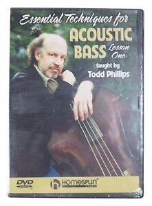 ESSENTIAL TECHNIQUES FOR ACOUSTIC BASS Lesson #1 DVD Sealed NEW 2004 OOP 75 Mins