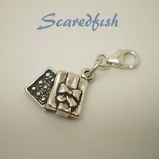 3D Box of Chocolates Sterling Silver Clip on Charm