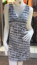 V Neck Clubwear Stretch, Bodycon Striped Dresses for Women