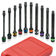 "10 Piece 1/2"" Drive Torque Limiting Extension Bar Socket Set Auto"