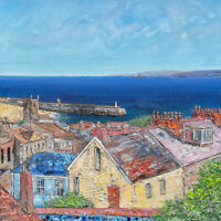 "Original Art - ""Over the Rooftops St Ives Bay"" Cornwall Cornish painting"
