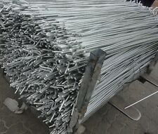 10 GALVANISED METAL FENCING STAKES  BARRIER FENCING MESH PINS 1300mm x 10mm