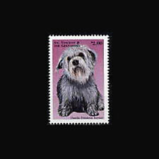 ST VINCENT, Sc #2581, MNH, 1998, Dog, Dandie Dimmont Terrier, 229*F