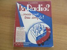 LA RADIO MAIS C' EST TRES SIMPLE - AISBERG TSF FONCTIONNEMENT 1936