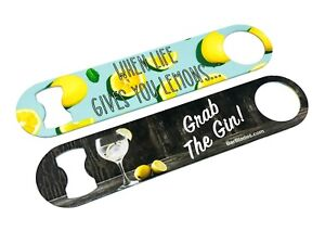 Life Lemons Wrapic Bar Blade Bottle Opener Pattern Colour Design Bar Beer