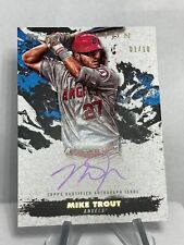 2021 Topps Inception Mike Trout  Gold Auto 1/10! #SPIA-MT