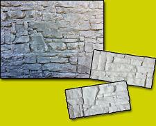 2Pcs Set Silicone Stamps vertical Stone texture imprint wall design concrete Diy