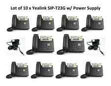 Lot of 10 Yealink SIP-T23G:3 Line PoE Phone-POWER SUPPLY INCLUDED- FREE SHIPPING