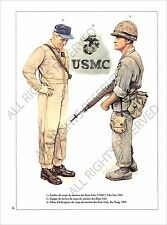 PLANCHE UNIFORMS PRINT  Marines United States US Army Viet Nam Vietnam