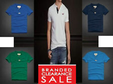 Hollister Patternless Crew Neck Basic T-Shirts for Men