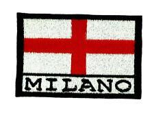Patch écusson brodé Drapeau MILAN MILANO ITALIE Thermocollant Backpack sac à dos