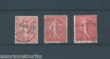 FRANCE TYPE SEMEUSE - 1902 YT 129  - rose pâle / rose / rose foncé