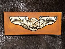 SILVER LEATHER WWII AIRCREW WINGS WWII USAAF A2 B3 G1 JACKET BOMBER FIGHTER